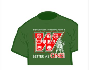Woodland High School Feeder Shirt