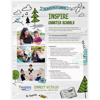 The Adventure of Learning with Inspire Charter School!