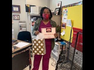 Teacher of the Month February- Mrs. Frazier-Seals