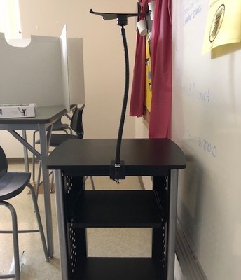 Connect your ipad stand to your scoot
