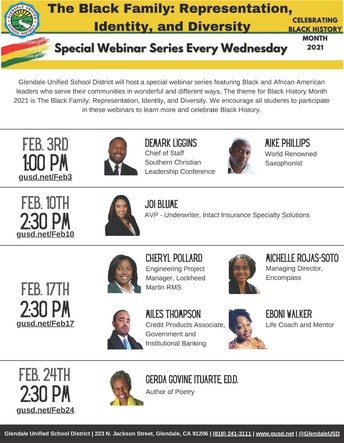 It's Black History Month! Enjoy inspirational Speakers!