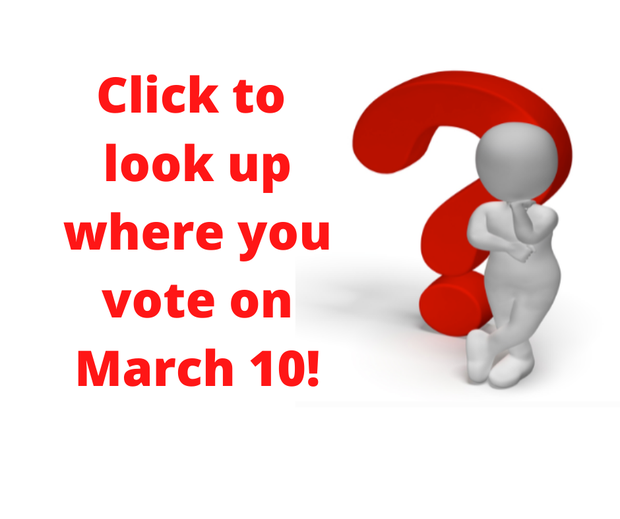 Click to look up where you vote on March 10