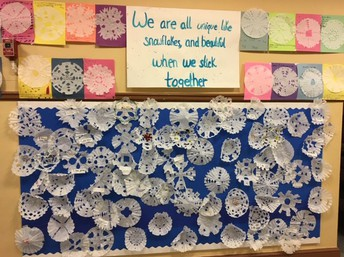 We are all unique like snowflakes, and beautiful when we stick together.