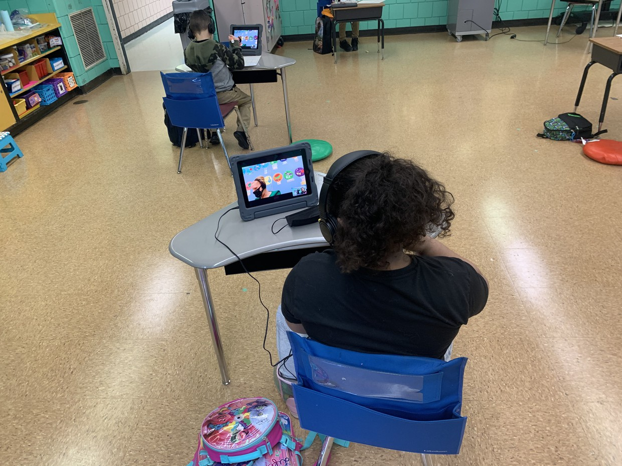 Students in in-person learning
