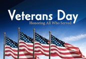 NOVEMBER 10:  VETERANS DAY
