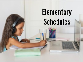 Elementary TK-5 Grades Schedule