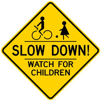 CAUTION!  Children at School