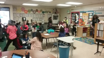 McKinley students read to Mrs. Fisher's class