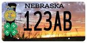 Nebraska 4-H/Nebraska FFA License Plate