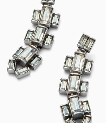 Hatley Baguette Earrings silver