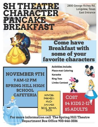 SH Theatre Character Pancake Breakfast