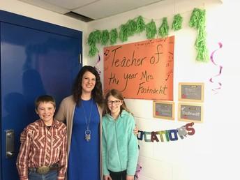 Mrs. Julie Fastnacht Wessington Springs Teacher of the year 2018