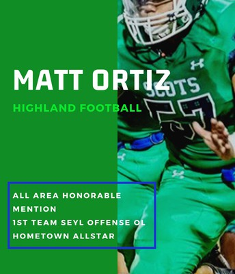 Senior Matt Ortiz