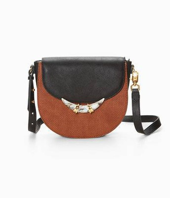 Chelsea bag, saddle/black