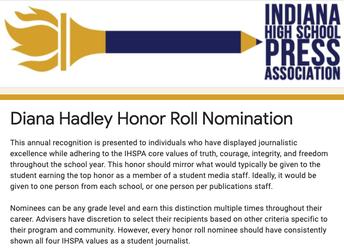 Diana Hadley Honor Roll