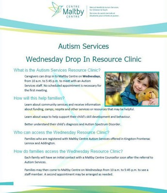 Maltby Autism Services Drop-In Clinic