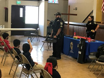 Career day with Uvalde Police Dept.