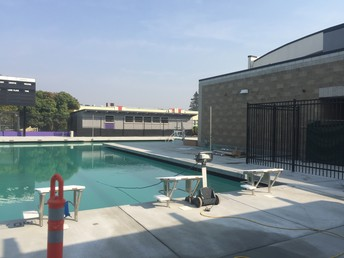 Pool with new external showers