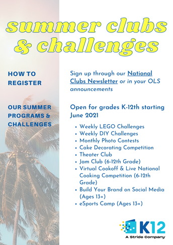 Summer Programs & Challenges Coming June 2021!