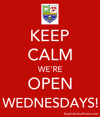 The School is Open on Wednesdays for Drop In Student Support