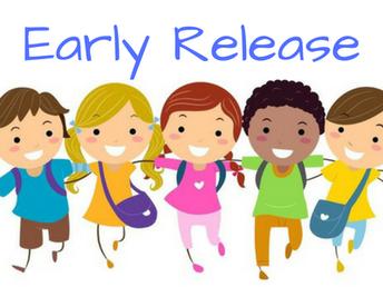 Early Dismissal - Mark your calendar