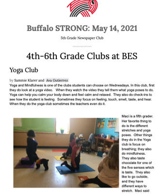 Student Newsletter- Page 1
