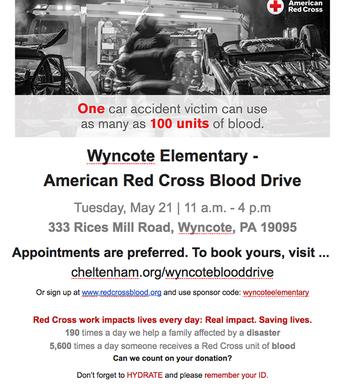 Wyncote Blood Drive
