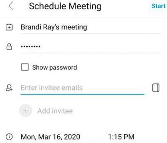 Schdule your Meeting