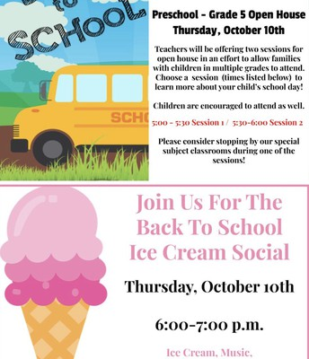 Open House & Ice Cream Social