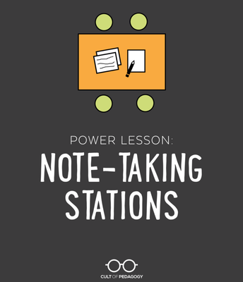 A Power Lesson:  Note-Taking Stations