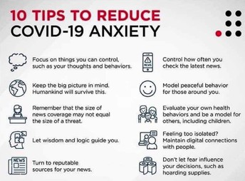 10 Tips to Reduce Covid-19 Anxiety
