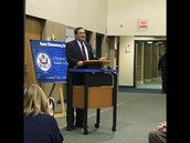 Senator Donnelly and Congresswoman Brooks came to GES for our Blue Ribbon Celebration