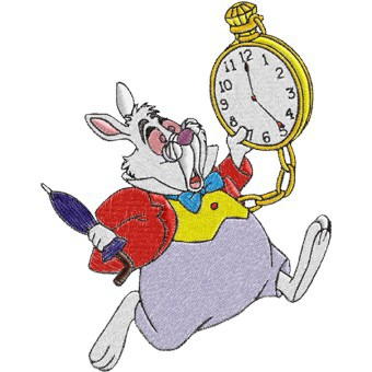 Graphic of Rabbit racing against time on the clock.