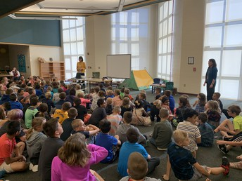 Our first visitors came for the Grades 3-5 Speaker Series