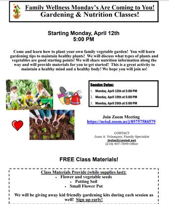 Family Gardening & Nutrition