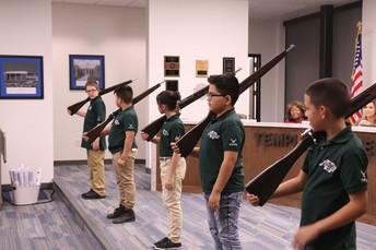 Jefferson Elementary Military Club Performance