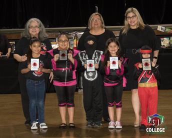 Ninja Summer Readers, Mrs. L. Hinojosa, Librarian, Ms. S. Garza, Asst. Principal and Mrs. M. Cardoza, Principal