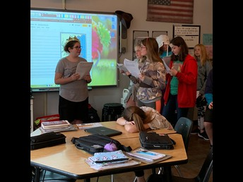Students acted out the Boston Tea Party