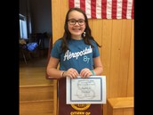 Our PCS 5th grade Citizen of the Month
