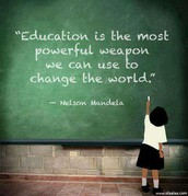 Education the most powerful weapon!