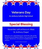 November 10 Veterans Day Blessing