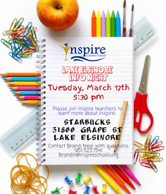 Lake Elsinore Info Session!