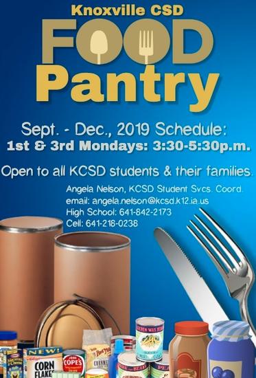 KCSD Food Pantry info.