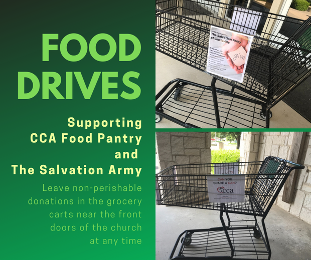 Food Drives for CCA and The Salvation Army