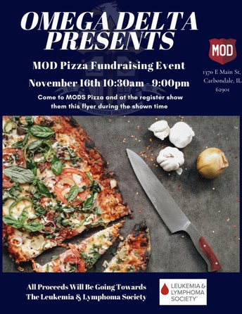 Omega Delta's MOD Pizza Fundraising Event has been cancelled.