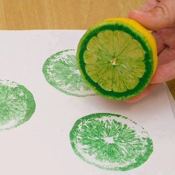 make stamps with household items!