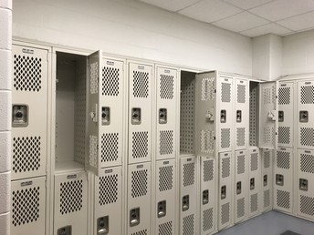 Social Distance in Locker Rooms if in Use