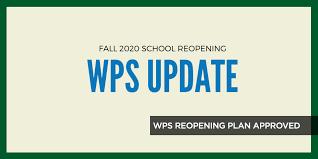 WPS Reopening Plan