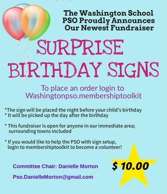 Birthday Surprise Signs