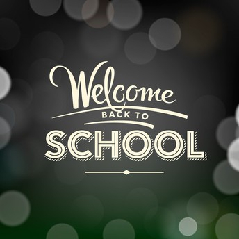 Black chalkboard with Welcome Back to School displayed
